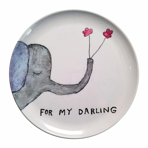 "10"" For My Darling Melamine Plates (Set of 4) by Sugarboo Designs"