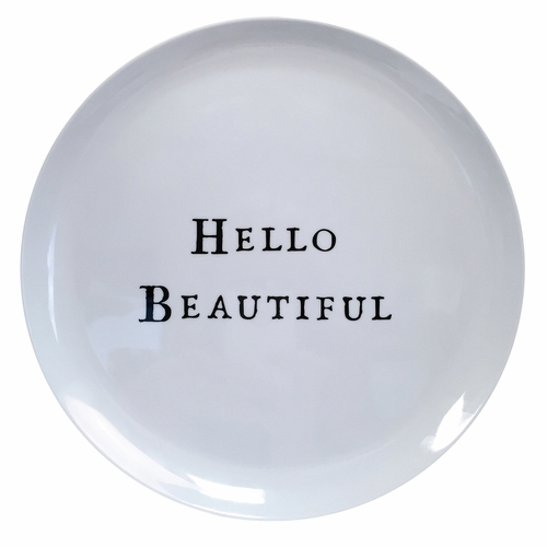 "10"" Hello Series Melamine Plates (Set of 10) by Sugarboo Designs"
