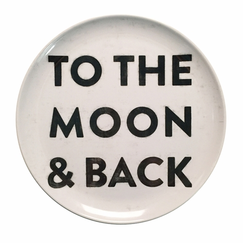 "10"" To The Moon And Back Melamine Plates (Set of 4) by Sugarboo Designs"