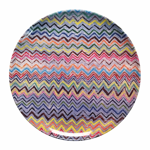 "10"" Zig Zag Melamine Plates (Set of 4) by Sugarboo Designs"