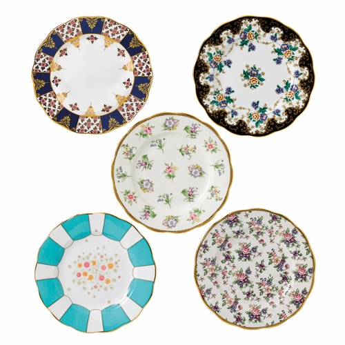 100 Years 1900-1940 5-Piece Plate Set by Royal Albert