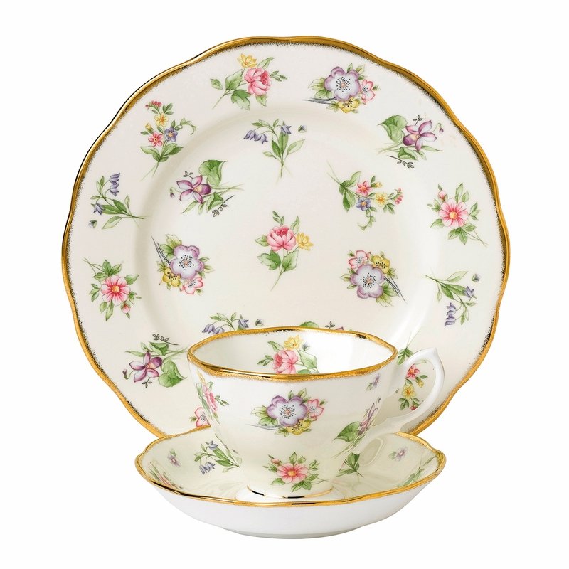 sc 1 st  The L& Stand & 100 Years 1920 Spring Meadow 3-Piece Teacup Set by Royal Albert