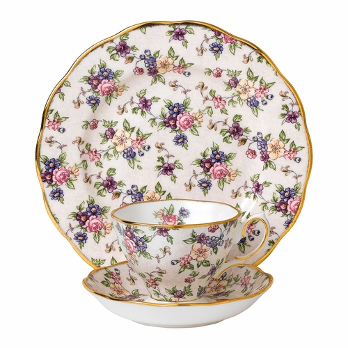 100 Years 1940 English Chintz 3-Piece Teacup Set by Royal Alber - Special Order