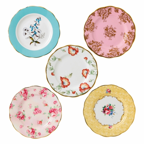 100 Years 1950-1990 5-Piece Plate Set by Royal Albert