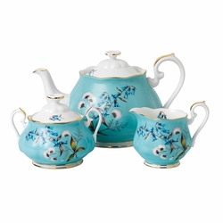 100 Years 1950 Festival 3-Piece Teapot, Sugar & Creamer Set by Royal Albert
