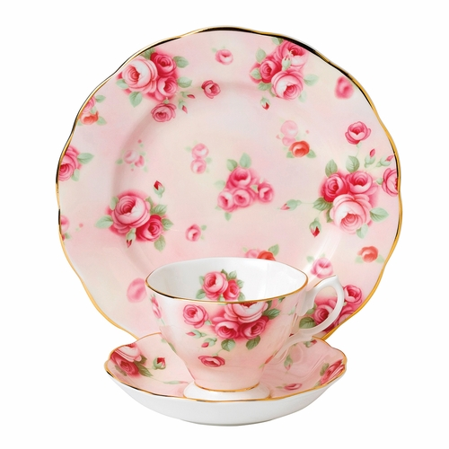 100 Years 1980 Rose Blush 3-Piece Teacup Set by Royal Albert - Special Order