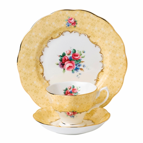 100 Years 1990 Bouquet 3-Piece Teacup Set by Royal Albert - Special Order