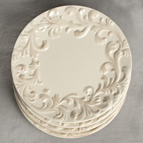 11 in. Dinner Plate-Set of 4-Cream - GG Collection