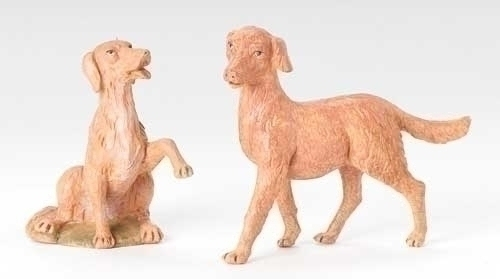 "12"" Dog Figures (2 Piece) - Fontanini"