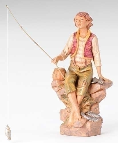 "12"" Jacob the Fisherman Figure - Fontanini"