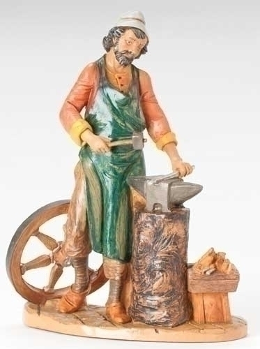 "12"" Orion the Blacksmith Figure - Fontanini"