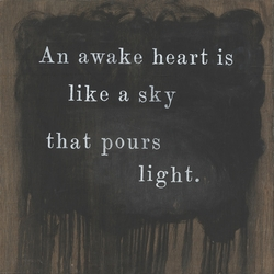 "12"" x 12"" An Awake Heart Small Print by Sugarboo Designs"