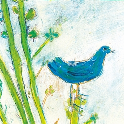 """12"""" x 12"""" Blue Bird (Right Panel) Small Print by Sugarboo Designs"""