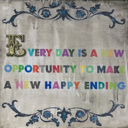 """12"""" x 12"""" Every Day Is A New Opportunity Small Print by Sugarboo Designs"""