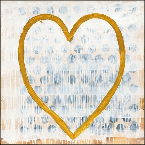 """12"""" x 12"""" Heart Of Gold Small Print by Sugarboo Designs"""