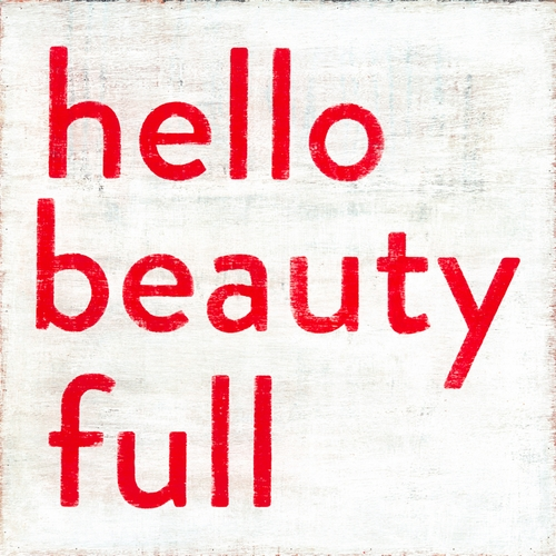 """12"""" x 12"""" Hello Beauty Full Small Print by Sugarboo Designs"""
