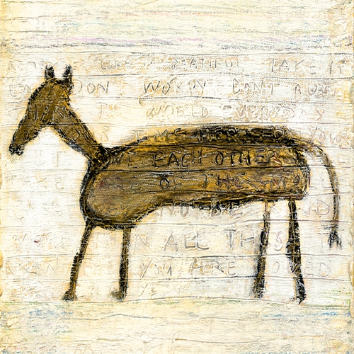 "12"" x 12"" Horse Small Print by Sugarboo Designs"