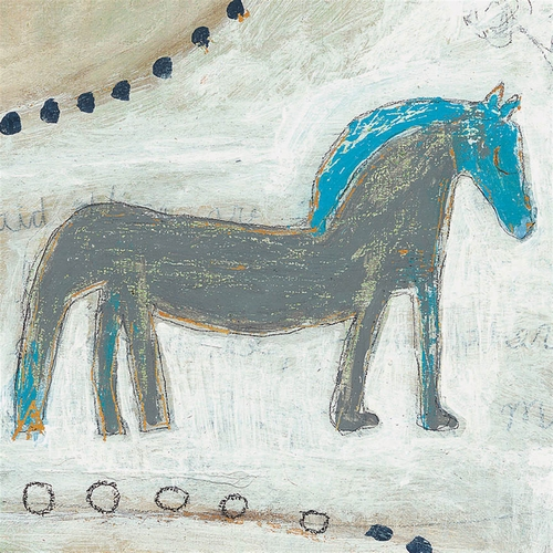 "12"" x 12"" Horse With A Blue Mane Small Print by Sugarboo Designs"