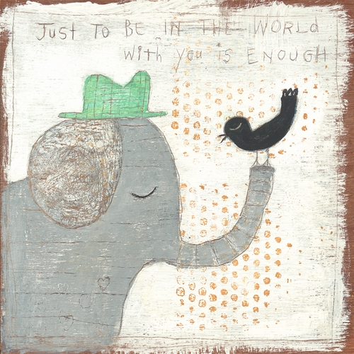 """12"""" x 12"""" In The World With You Small Print by Sugarboo Designs"""