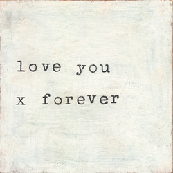"""12"""" x 12"""" Love You X Forever Small Print by Sugarboo Designs"""