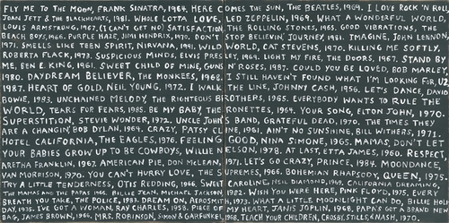 """12"""" x 12"""" Playlist (Both Panels) Small Print by Sugarboo Designs"""
