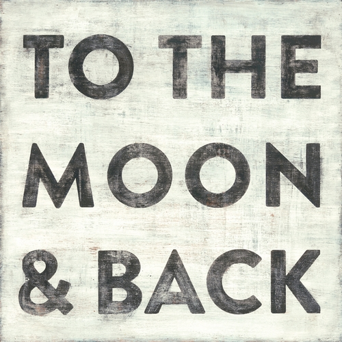 "12"" x 12"" To The Moon And Back Small Print by Sugarboo Designs"