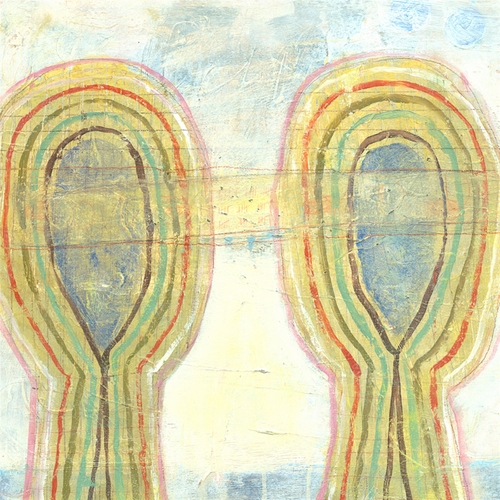 """12"""" x 12"""" Two Swirl Heads Small Print by Sugarboo Designs"""