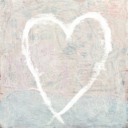 """12"""" x 12"""" White Heart Small Print by Sugarboo Designs"""