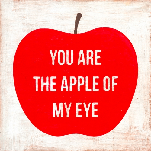 "12"" x 12"" You Are The Apple Of My Eye Small Print by Sugarboo Designs"