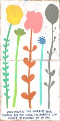 """12"""" x 12"""" Your Mind Is A Garden (Both Panels) Small Print by Sugarboo Designs"""