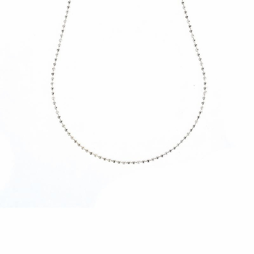 "16"" - 18"" Antique White Ball Chain by Benny & Ezra"