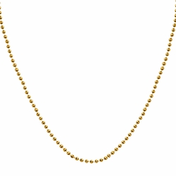 "16"" Gold Plated 1mm Ball Chain - TLSJ BRAND"