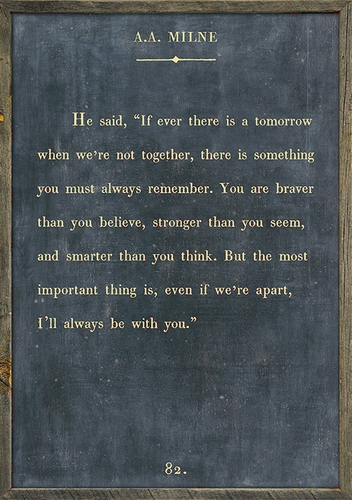 """17"""" x 25"""" Charcoal A.A. Milne Book Collection Art Print with Grey Wood Frame by Sugarboo Designs"""
