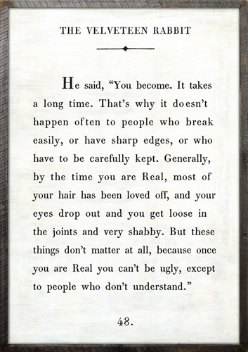 """17"""" x 25"""" White The Velveteen Rabbit Book Collection Art Print with Grey Wood Frame by Sugarboo Designs"""