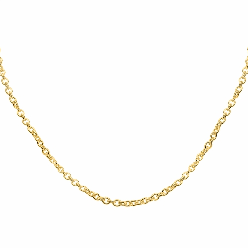"18"" Gold Plated .6mm Cable Chain - TLSJ BRAND"