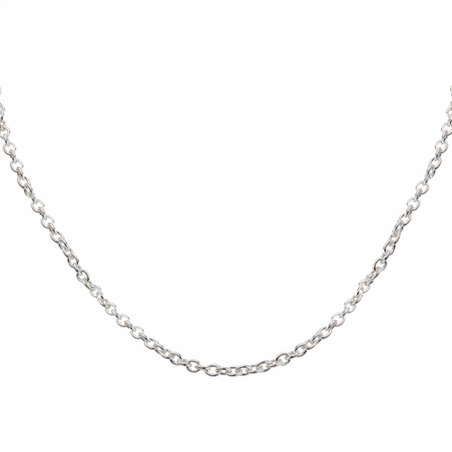 """18"""" Sterling Silver .5mm Hammered Cable Chain - TLSJ BRAND"""
