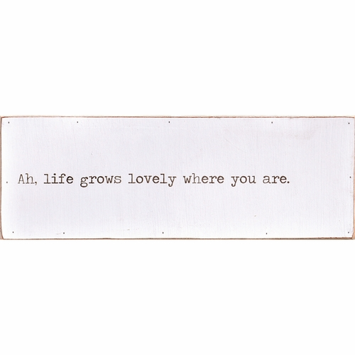 "20"" x 7"" Ah, Life Grows Love Letter by Sugarboo Designs"
