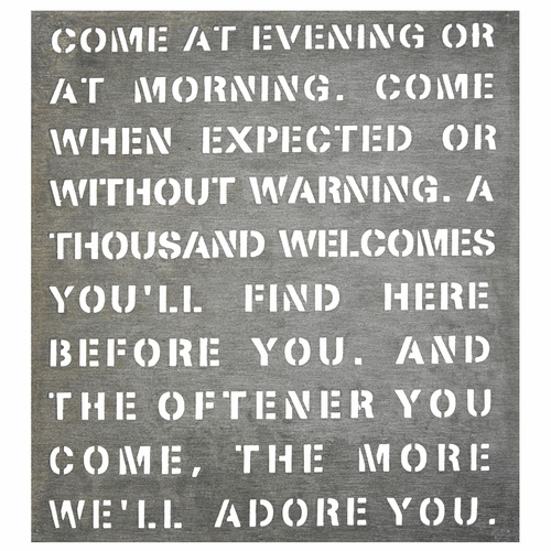"""21"""" x 22.5"""" Come At Evening Metal Sign by Sugarboo Designs - Special Order"""