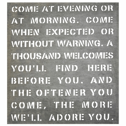 "21"" x 22.5"" Come At Evening Metal Sign by Sugarboo Designs"