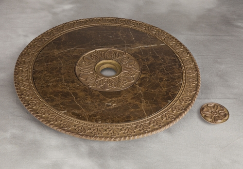 22 in. Marble Top Indoor/Outdoor Lazy Susan - GG Collection