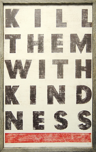"""22"""" x 35"""" Kill Them With Kindness Art Print by Sugarboo Designs"""