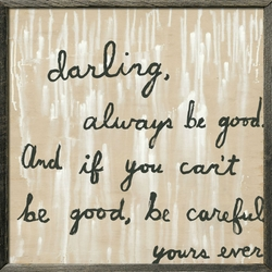 """24"""" x 24"""" Be Good Art Print With Grey Wood Frame by Sugarboo Designs"""