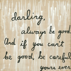 """24"""" x 24"""" Be Good Gallery Wrap Frame Art Print by Sugarboo Designs"""