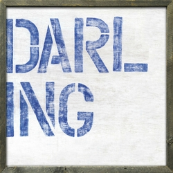 "24"" x 24"" Darling Art Print With Grey Wood Frame by Sugarboo Designs"