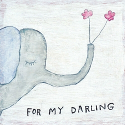 "24"" x 24"" For My Darling Art Print by Sugarboo Designs"