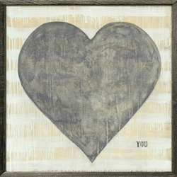 """24"""" x 24"""" Grand Couer Art Print With Grey Wood Frame by Sugarboo Designs"""