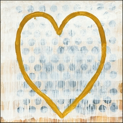 """24"""" x 24"""" Heart of Gold Art Print by Sugarboo Designs"""