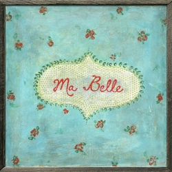 "24"" x 24"" Ma Belle Art Print With Grey Wood Frame by Sugarboo Designs"