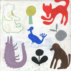 "24"" x 24"" Mr. Boyd's Animals Art Print by Sugarboo Designs"
