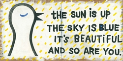"24"" x 24"" The Sun Is Up 2-Panel Art Print by Sugarboo Designs"